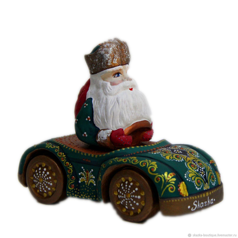 Резные деревянные Дед Морозы (на машинке, на медведе), Матрешки, Санкт-Петербург,  Фото №1