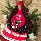 Куклы и игрушки ручной работы. Ярмарка Мастеров - ручная работа Кукла тильда новогодняя фея ангел. Handmade.