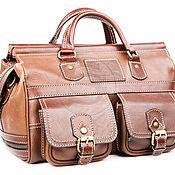 Сумки и аксессуары handmade. Livemaster - original item Leather travel bag Small korichnevy. Handmade.