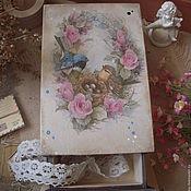 """Для дома и интерьера ручной работы. Ярмарка Мастеров - ручная работа """"Птичий рай"""" короб-пенал. Handmade."""