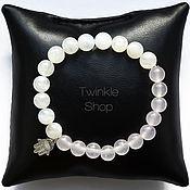 Украшения handmade. Livemaster - original item Bracelet made of moonstone and pink quartz. Handmade.
