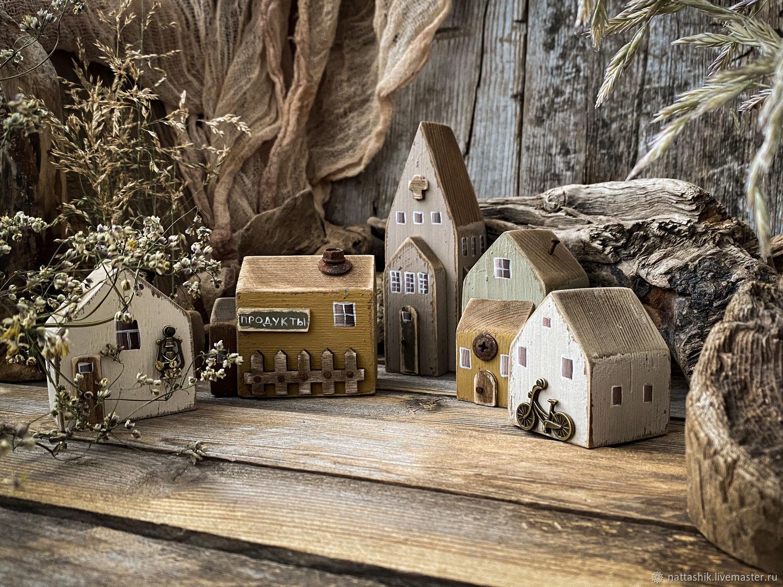 Домики для интерьера мятный оливковый коричневый старый, Домики, Архангельск,  Фото №1