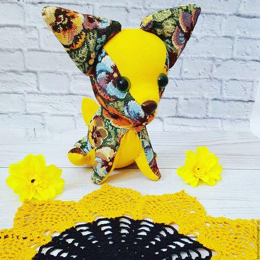 Игрушки животные, ручной работы. Ярмарка Мастеров - ручная работа. Купить Собачка чихуахуа. Handmade. Желтый, чихуахуа, собачка, собака