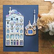 Картины и панно ручной работы. Ярмарка Мастеров - ручная работа Архитектура Гауди, панно на стену. Handmade.