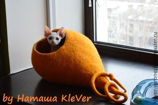 """Аксессуары для кошек, ручной работы. Ярмарка Мастеров - ручная работа. Купить Домик-чум для кошки или маленькой собачки, """"Луковка"""". Handmade."""