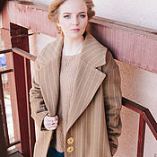 Пальто ручной работы. Ярмарка Мастеров - ручная работа Зимнее утеплённое шерстяное пальто с большом воротником. Handmade.