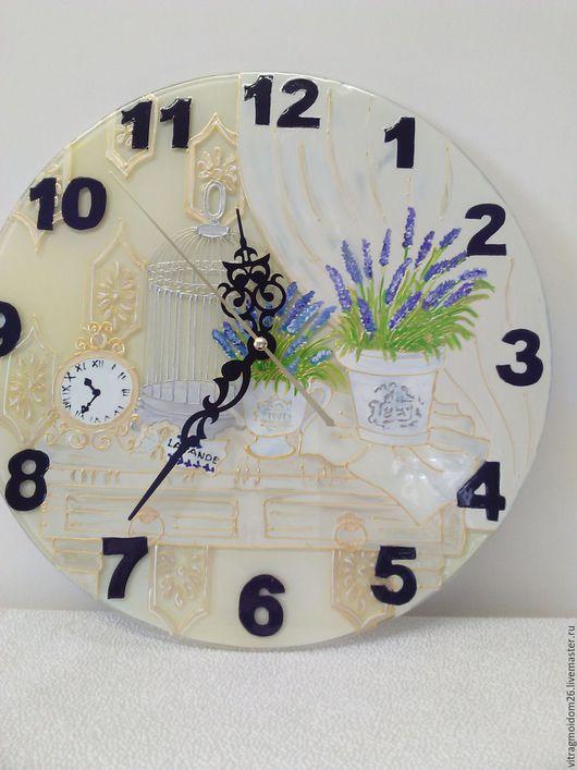 Часы для дома ручной работы. Ярмарка Мастеров - ручная работа. Купить часы настенные Прованс 1. Handmade. Бледно-сиреневый