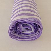 Материалы для творчества handmade. Livemaster - original item 100% Belarusian magpie linen lilac stripe. Handmade.