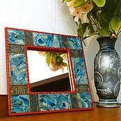 Для дома и интерьера ручной работы. Ярмарка Мастеров - ручная работа Зеркало с декором из полимерной глины ISHQ. Handmade.