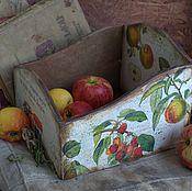 """Для дома и интерьера ручной работы. Ярмарка Мастеров - ручная работа Открытый короб """"Сезон урожая"""" для кухни, для дачи. Handmade."""
