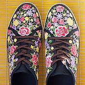 Обувь ручной работы. Ярмарка Мастеров - ручная работа Кеды мужские с росписью Floral boom. Handmade.