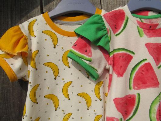 """Одежда для девочек, ручной работы. Ярмарка Мастеров - ручная работа. Купить платье/туничка  """"Сочное лето"""". Handmade. Комбинированный, фруктовый"""