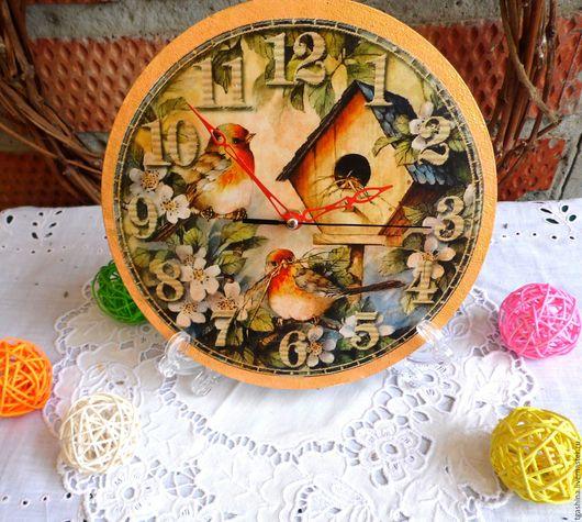 """Часы для дома ручной работы. Ярмарка Мастеров - ручная работа. Купить Часы """"Семейное гнёздышко"""". Handmade. Золотой, заготовка из фанеры"""
