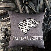 Для дома и интерьера handmade. Livemaster - original item Pillow with embroidery