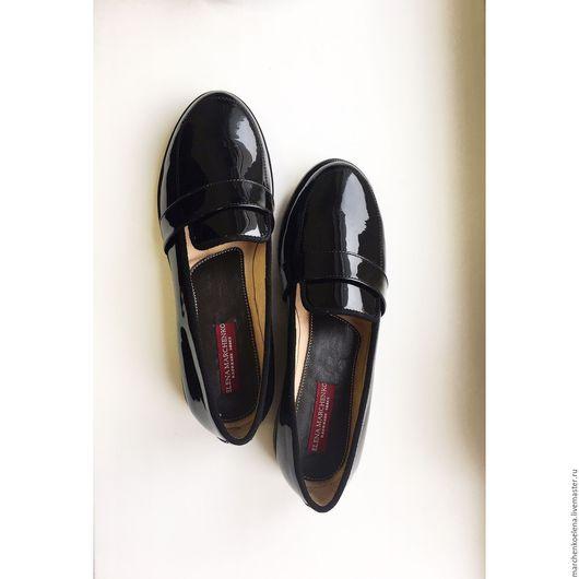 Обувь ручной работы. Ярмарка Мастеров - ручная работа. Купить Лоферы. Handmade. Бордовый, ботинки, кожа натуральная