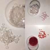 Материалы для творчества handmade. Livemaster - original item Sequins transparent 6 mm, 4mm. Handmade.