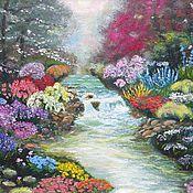 Картины и панно ручной работы. Ярмарка Мастеров - ручная работа Сказочные цветы. Handmade.