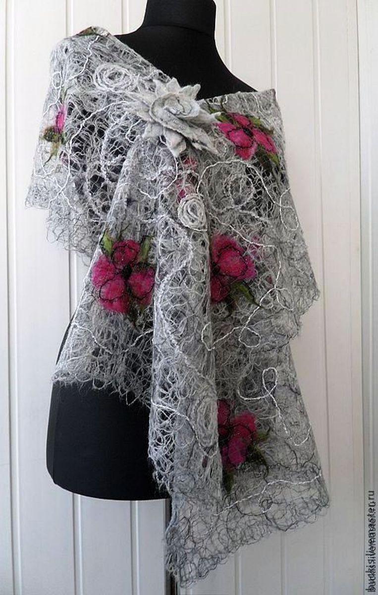 Fishnet scarf stole - Lukrecia, Shawls, Vilnius,  Фото №1