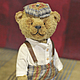 Мишки Тедди ручной работы. Заказать Мишка в кепке. Журавлик. Ярмарка Мастеров. Мишка ручной работы, синтепон