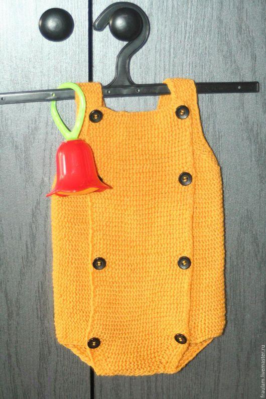 Одежда ручной работы. Ярмарка Мастеров - ручная работа. Купить Боди для новорожденного. Handmade. Оранжевый, боди для мальчика, шерсть 100%