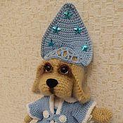 Мягкие игрушки ручной работы. Ярмарка Мастеров - ручная работа Собака Снегурочка вязаная крючком. Handmade.
