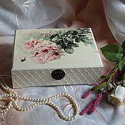 """Для дома и интерьера ручной работы. Ярмарка Мастеров - ручная работа Шкатулка """"Розовый букет"""". Handmade."""