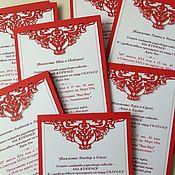 Открытки ручной работы. Ярмарка Мастеров - ручная работа Свадебное приглашение с резкой. Handmade.