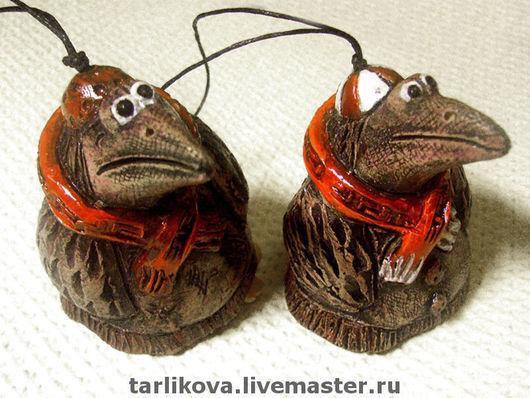 """Колокольчики ручной работы. Ярмарка Мастеров - ручная работа. Купить Колокольчик """"Ворона"""". Handmade. Керамика, керамика"""