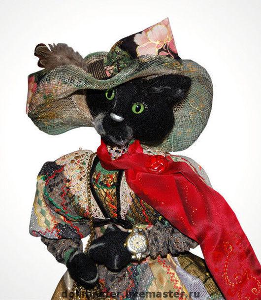 Игрушки животные, ручной работы. Ярмарка Мастеров - ручная работа. Купить Кошка Котильда. Handmade. Black, подарок женщине
