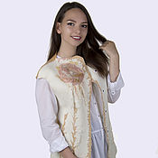 """Одежда ручной работы. Ярмарка Мастеров - ручная работа Войлочный жилет """"Нежность"""". Handmade."""