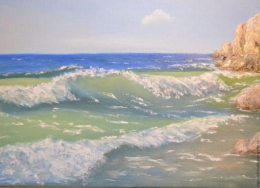 Пейзаж ручной работы. Ярмарка Мастеров - ручная работа. Купить Морской пейзаж. Холст. Масло. Handmade. Разноцветный, картина для интерьера