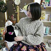 Одежда ручной работы. Ярмарка Мастеров - ручная работа Пуловер в стиле Рубан. Handmade.