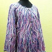 Одежда ручной работы. Ярмарка Мастеров - ручная работа Жакет из тонкого мохера СЕВЕРНОЕ СИЯНИЕ. Handmade.