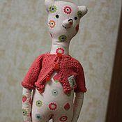 Куклы и игрушки ручной работы. Ярмарка Мастеров - ручная работа Мишка Текстильный. Handmade.