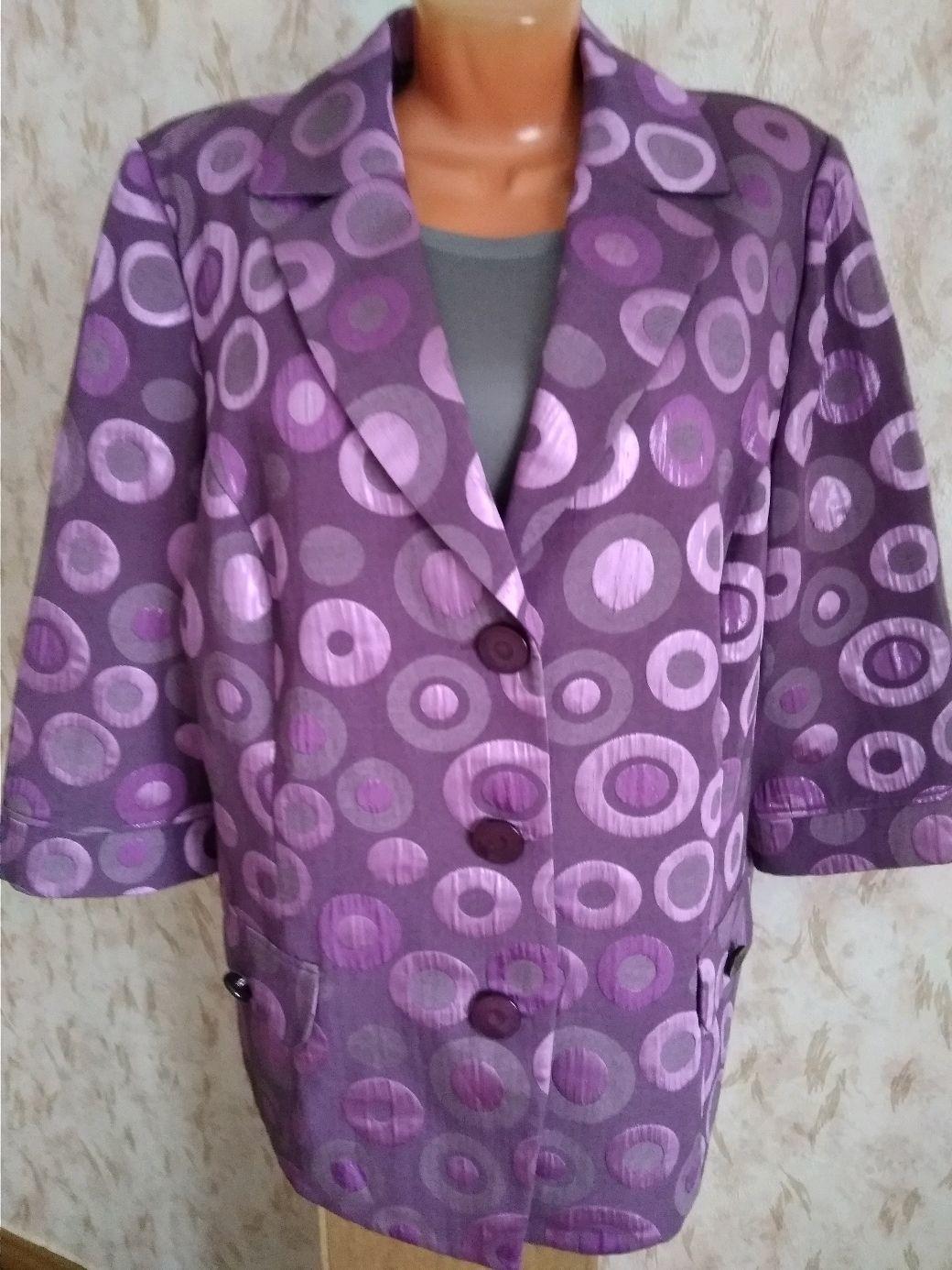 Винтаж: Жакет из ткани с хлопком 56 размер, Германия, Одежда винтажная, Фирово,  Фото №1