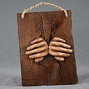 Панно ручной работы. Ярмарка Мастеров - ручная работа Панно: Руки. Handmade.