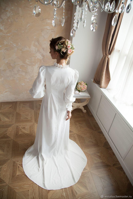 f7a706ad9fc ... Одежда и аксессуары ручной работы. Свадебное венчальное платье со  шлейфом