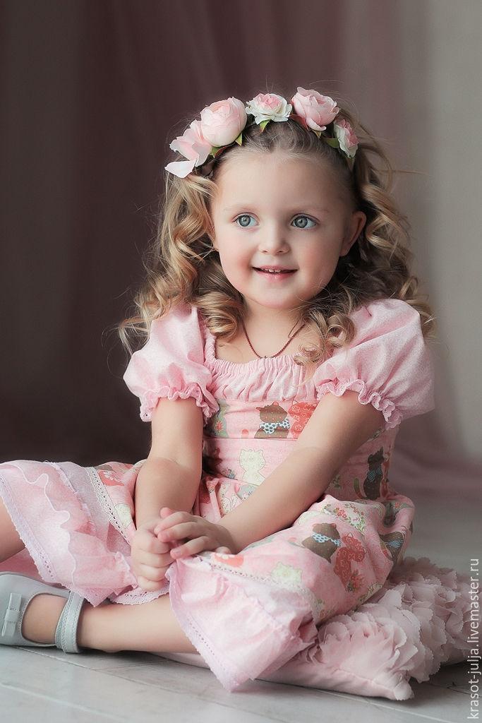 Одежда для девочек, ручной работы. Ярмарка Мастеров - ручная работа. Купить Розовые мечты. Нарядное платье для девочки из хлопка. Розовый кварц. Handmade.