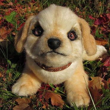 Куклы и игрушки ручной работы. Ярмарка Мастеров - ручная работа Мягкая игрушка щенок лабрадор Граф из искусственного меха. Handmade.
