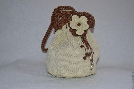 Детские аксессуары ручной работы. Ярмарка Мастеров - ручная работа. Купить Вязаная сумочка для девочки. Handmade. Комбинированный, сумочка вязаная