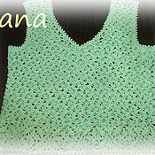 Одежда ручной работы. Ярмарка Мастеров - ручная работа Топ цвета морской волны. Handmade.