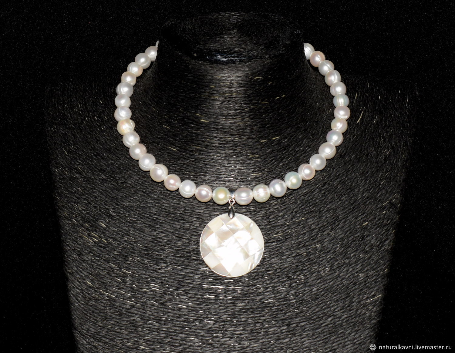 Necklace natural pearls (author's handwork), Necklace, Moscow,  Фото №1