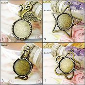 Материалы для творчества handmade. Livemaster - original item Base for pendant 16-18 mm. Art.OKL36. Handmade.