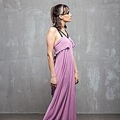 Одежда handmade. Livemaster - original item GGA_023 silk long Dress, color Astra.. Handmade.