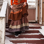 "Одежда ручной работы. Ярмарка Мастеров - ручная работа Льняная нижняя юбка ""Хруст веток"". Handmade."