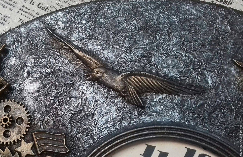 Часы стимпанк (steampunk) - Море белое, Архангельск (фрагмент)