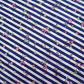 """Материалы для творчества ручной работы. Ярмарка Мастеров - ручная работа Тонкий хлопок """"Морской стиль"""" Италия. Handmade."""