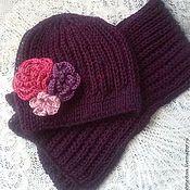 Аксессуары handmade. Livemaster - original item Set accessories-free hat and scarf