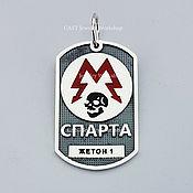 """Украшения handmade. Livemaster - original item """"Sparta"""" badge """"of Metro 2033"""" silver 925. Handmade."""