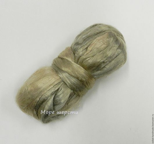Вискоза -   Жемчуг (серебристо-бежевый) Фото без вспышки